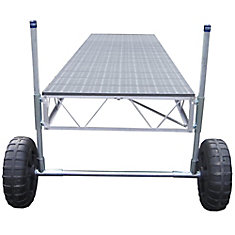 24 ft. Straight Roll-in Dock with Poly Decking