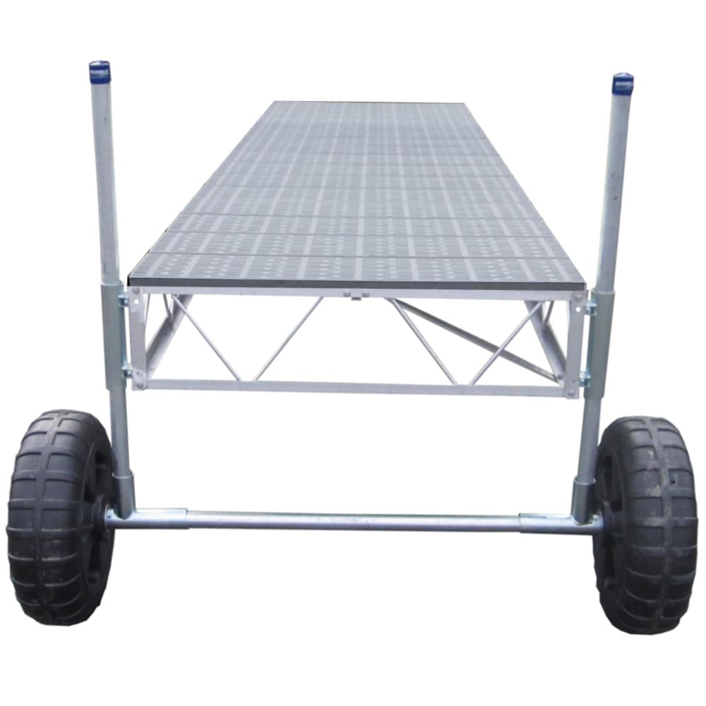 Patriot Docks 24 ft. Straight Roll-in Dock with Poly Decking