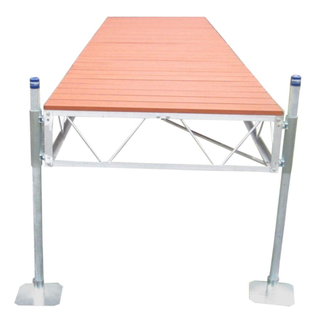 32 Feet  Straight Dock w/Aluminum Wood Grain Decking