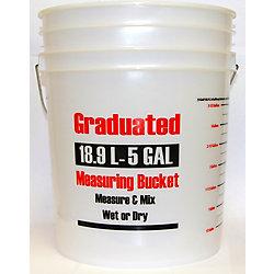 E.Hofmann Plastics 19L/5 Gallon - Graduated Measuring Bucket