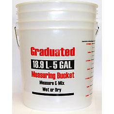 19L / 5 Gallon - Seau gradué de mesure