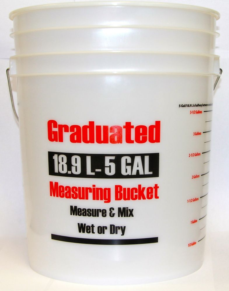 19L/5 Gallon - Graduated Measuring Bucket