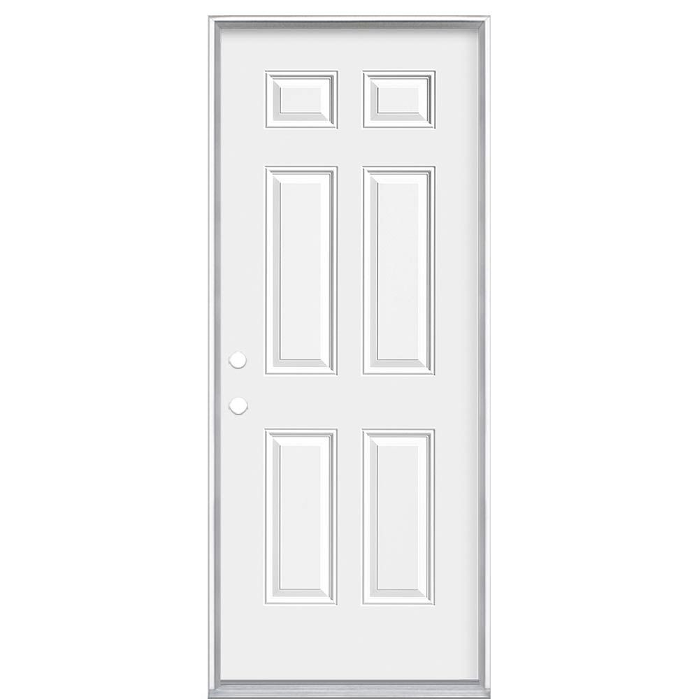 32-inch x 7 1/4-inch Endurance 6 Panel Right Hand Door
