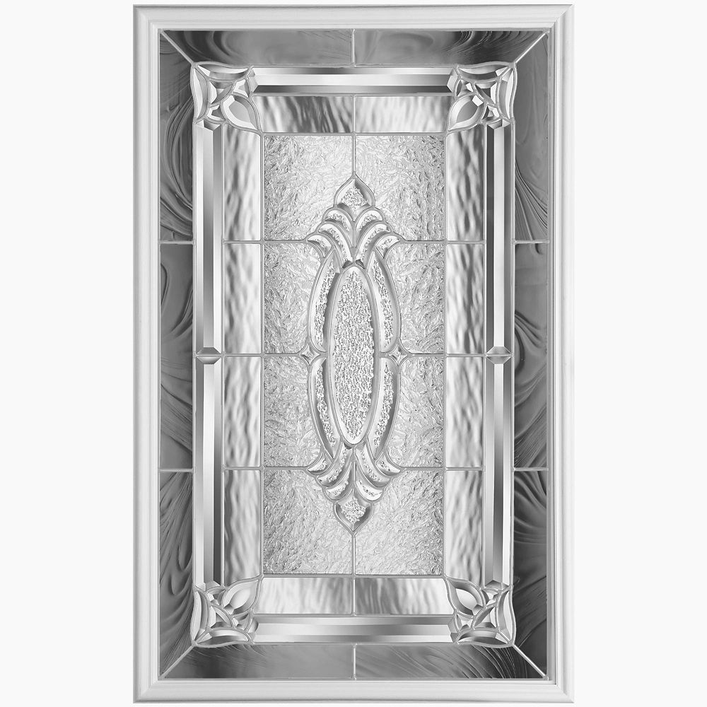 Masonite 22 In X 36 In Providence Nickel Glass Insert The Home Depot Canada