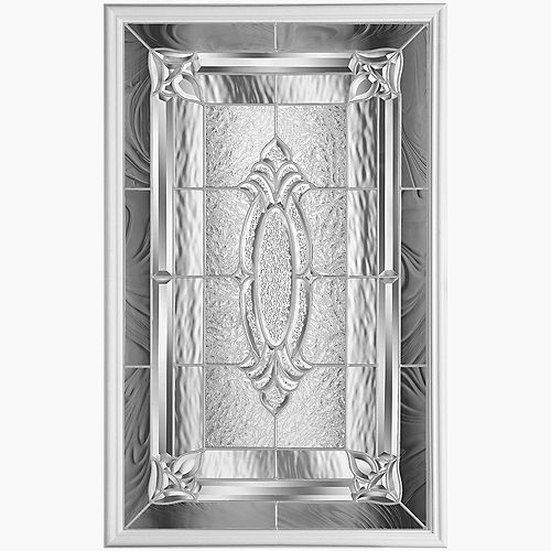 Masonite 22-inch x 36-inch Providence Nickel Glass Insert