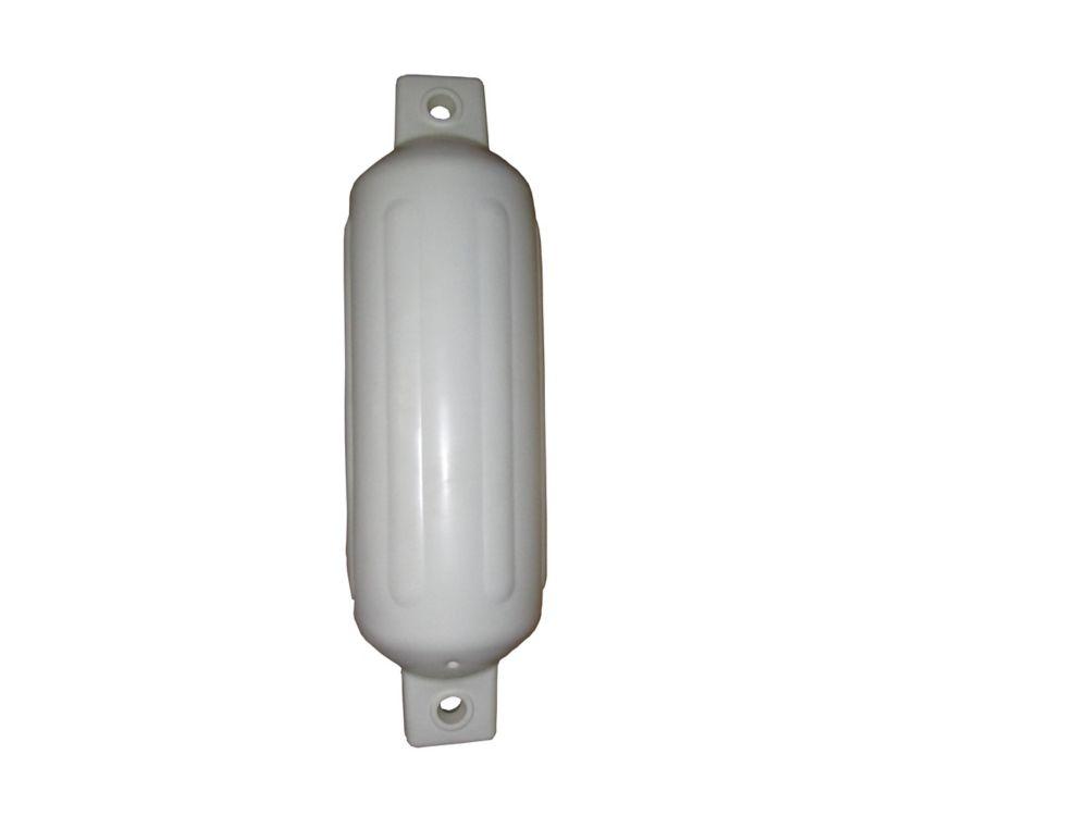 Pare-battage à deux oeillets gonflable 4,5x16 po de largeur. BLANCHE