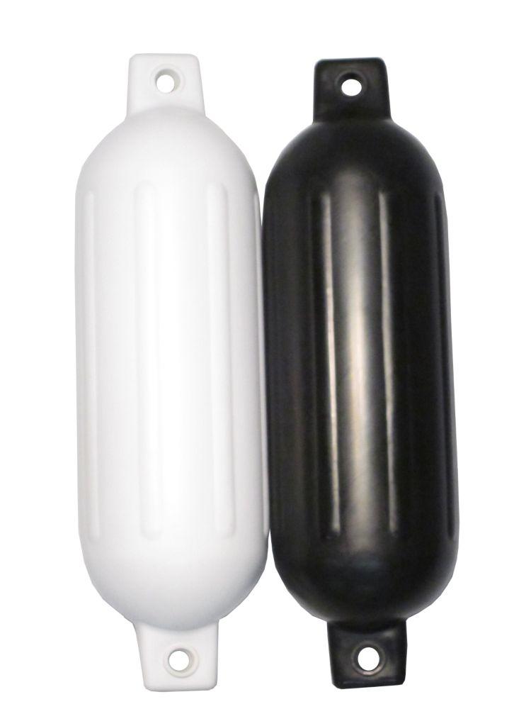 Pare-battage à deux oeillets gonflable 5,5x20 po de largeur. NOIR