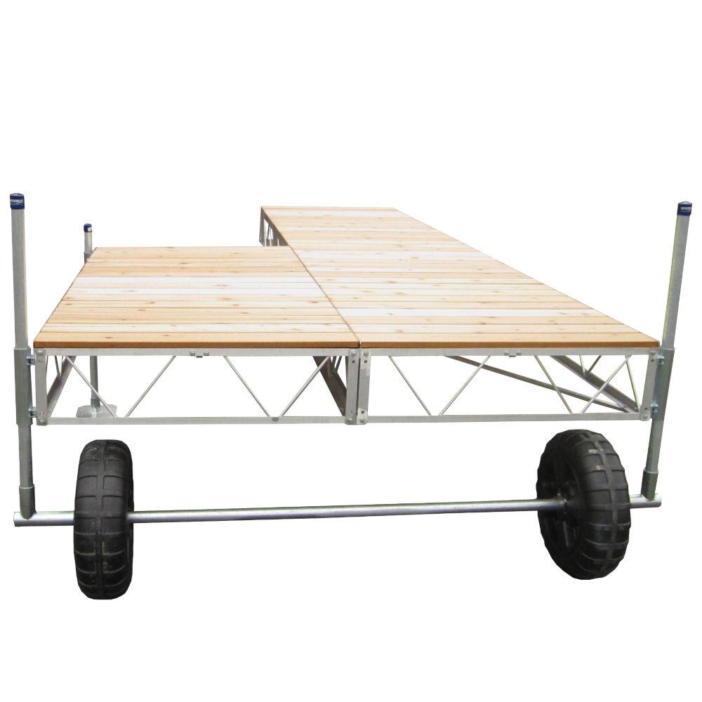 24 Feet  Patio Roll-in Dock w/Cedar Decking