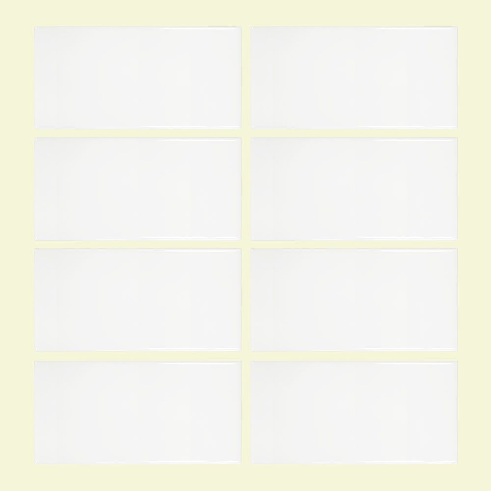 Jeffrey Court Allegro White 3-inch x 6-inch Ceramic Wall Tile (8-pieces / pack)