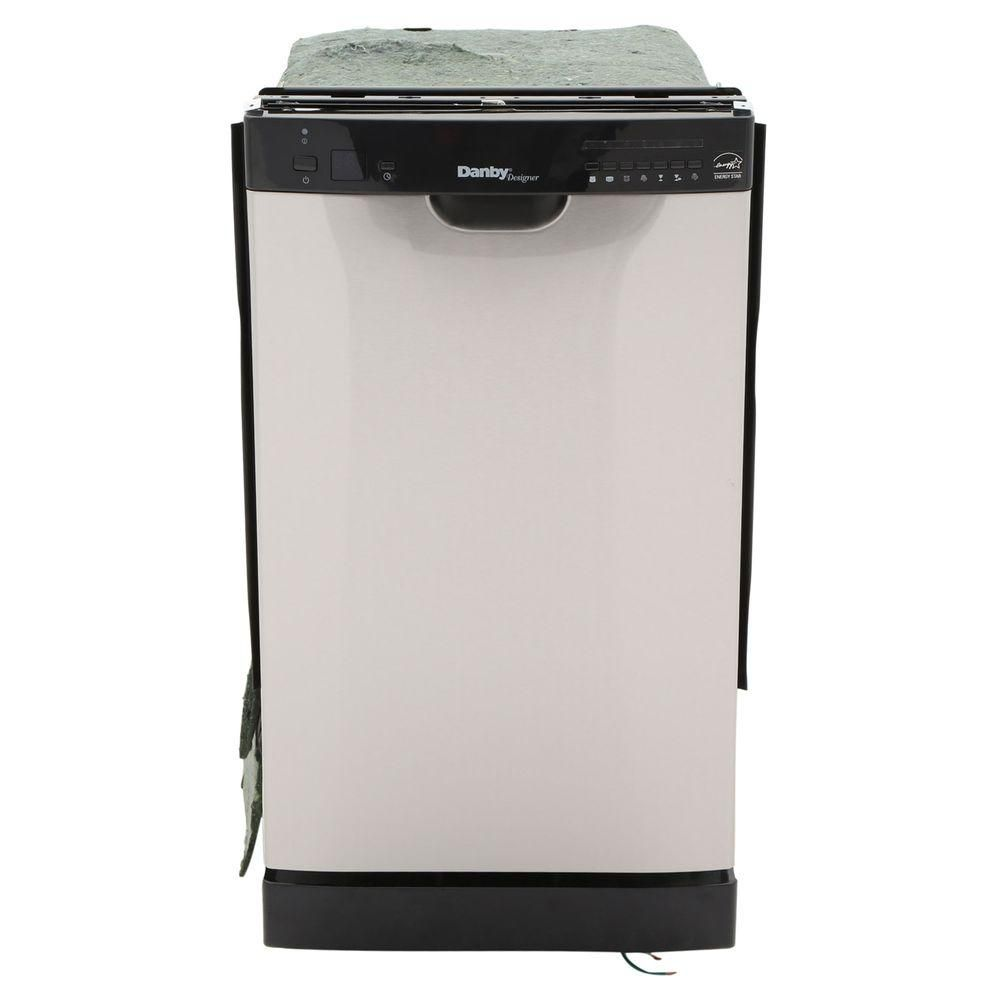 18-inch Built-In Dishwasher in Black and Stainless Steel