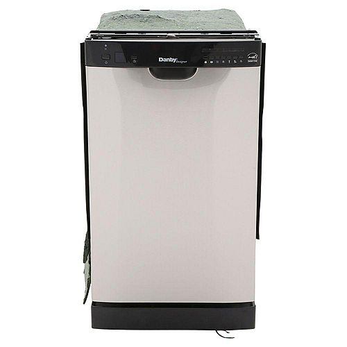 Danby 18-inch Built-In Dishwasher in Black and Stainless Steel