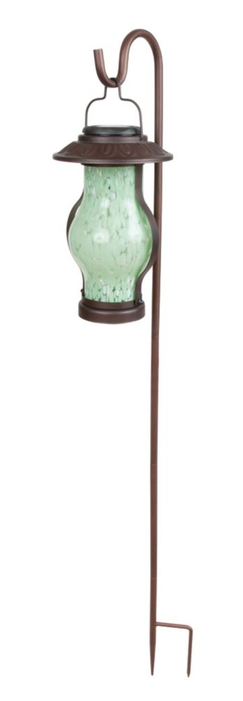 Solar Shepherd Hook Hanging or Tabletop Light - Bronze Finish