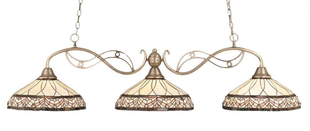 Concord plafond 3 lumières, nickel brossé à incandescence Bar de billard avec A Royal Merlot Le v...