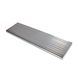 Pylex Collection 10_Aluminium Stair Tread Shiny Anodised - 42 in x 9 ¾ in