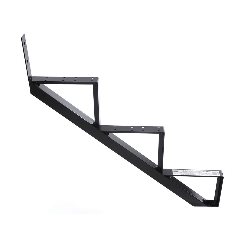 3-Steps Black Aluminium Stair Riser Includes one ( 1 ) riser only