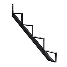 Collection 10_4 Steps Aluminium Stair Riser Black_7 1/2 in x 9 1/16 in Includes one (1) riser only