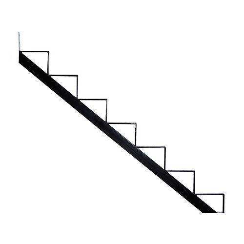 Pylex Collection 10 - 7 Steps Aluminium Stair Riser Black 7 1/2 in x 9 1/16 in Includes one (1) riser only