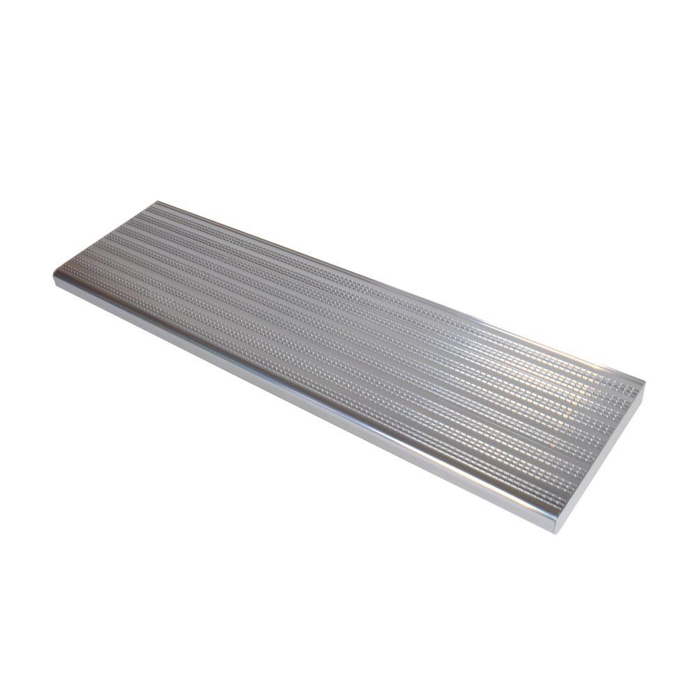 36 Inch Shiny Anodised Aluminum Step