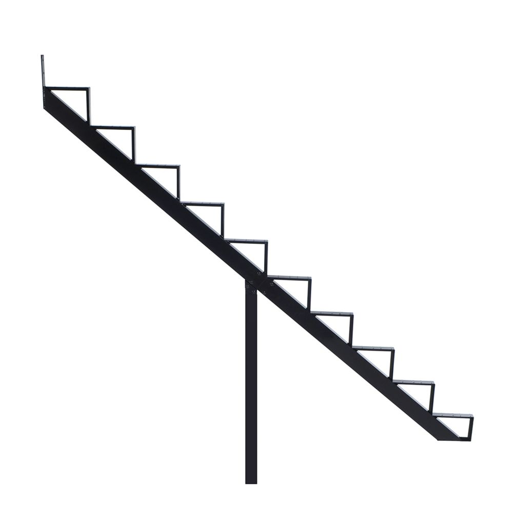 10-Steps Black Aluminium Stair Riser Includes one ( 1 ) riser only