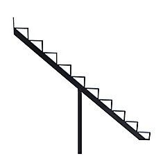 Collection 10_10 Steps Aluminium Stair Riser Black_7 1/2 in x 9 1/16 in Includes one (1) riser only