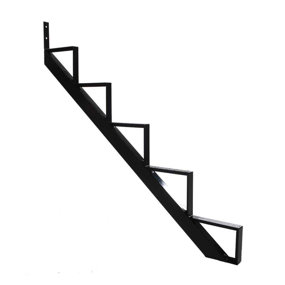 5-Steps Black Aluminium Stair Riser Includes one ( 1 ) riser only