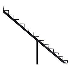 Collection 10_13 Steps Aluminium Stair Riser Black_7 1/2 in x 9 1/16 in Includes one (1) riser only