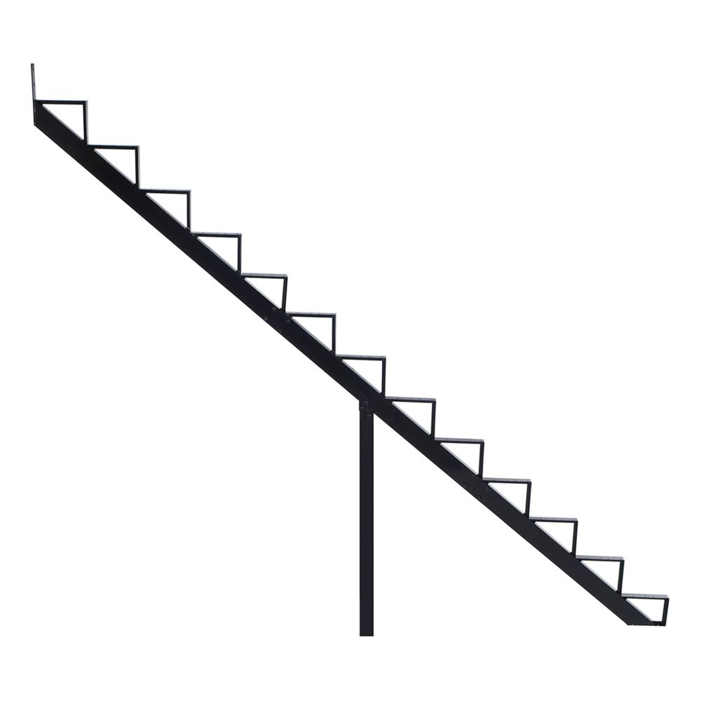 13-Steps Black Aluminium Stair Riser Includes one ( 1 ) riser only