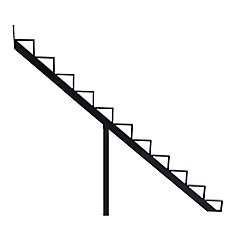 Collection 10_11 Steps Aluminium Stair Riser Black_7 1/2 in x 9 1/16 in Includes one (1) riser only