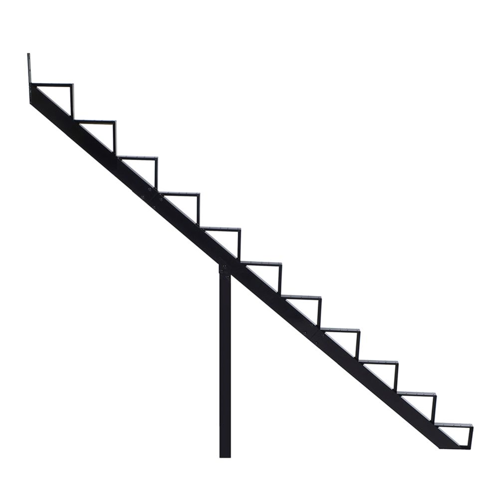 11-Steps Black Aluminium Stair Riser Includes one ( 1 ) riser only