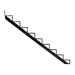 Pylex Collection10_9 Step Aluminium Stair Riser Black_7 1/2 inch x 9 1/16 inch Includes one (1) riser only