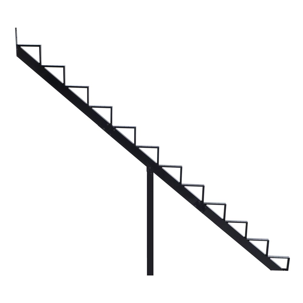 12-Steps Black Aluminium Stair Riser Includes one ( 1 ) riser only