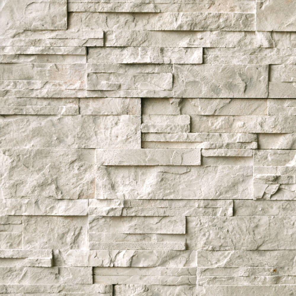 Sassi Cool Earth Linear Slate Glass Tile The Home Depot