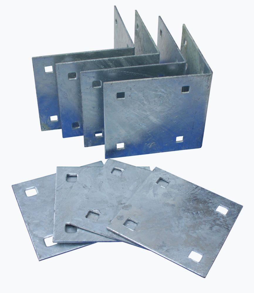 Stationary Dock Inside Corner Kit with Galvanized Steel Hardware