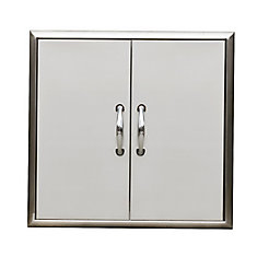 24 x 24-inch Outdoor Cabinet Double Access Door Set with Bevelled Frame
