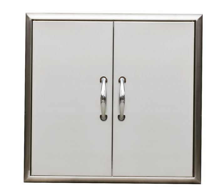 Broilchef Premium 24 x 24-inch Outdoor Cabinet Double Access Door Set with Bevelled Frame