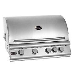 Barbecue encastrable au propane et à convection à quatre brûleurs Premium de Broil Chef avec brûleur arrière infrarouge