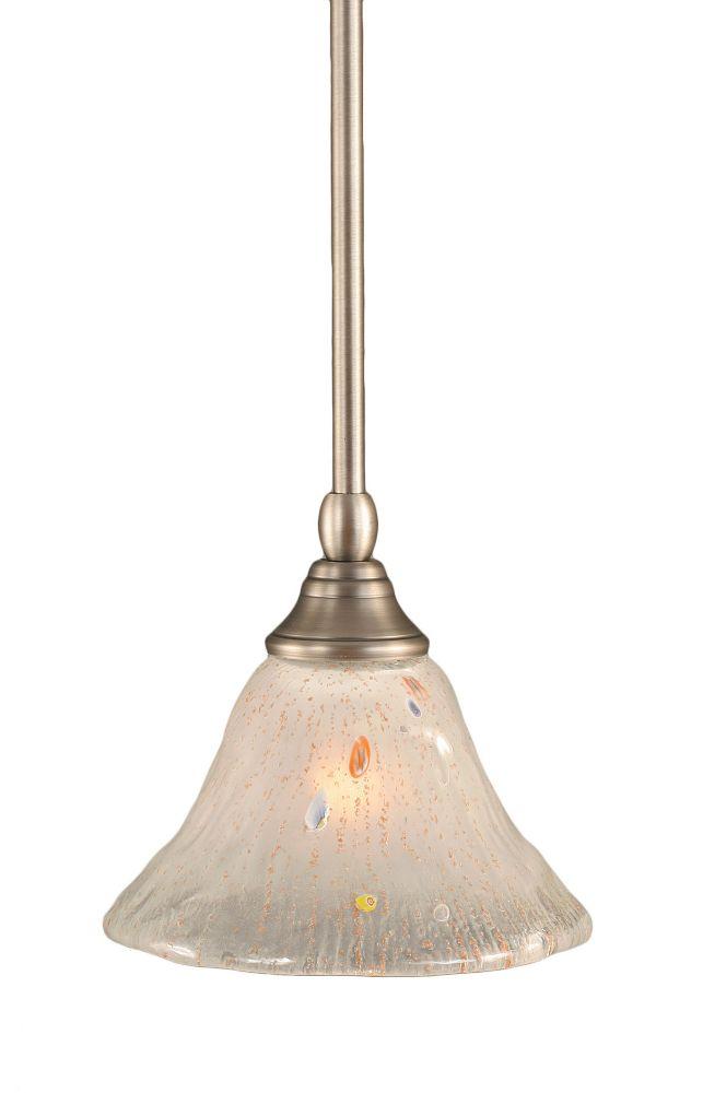 Concord plafond à 1 Lumière brossé Nickel Pendeloque à incandescence avec un verre cristal givré