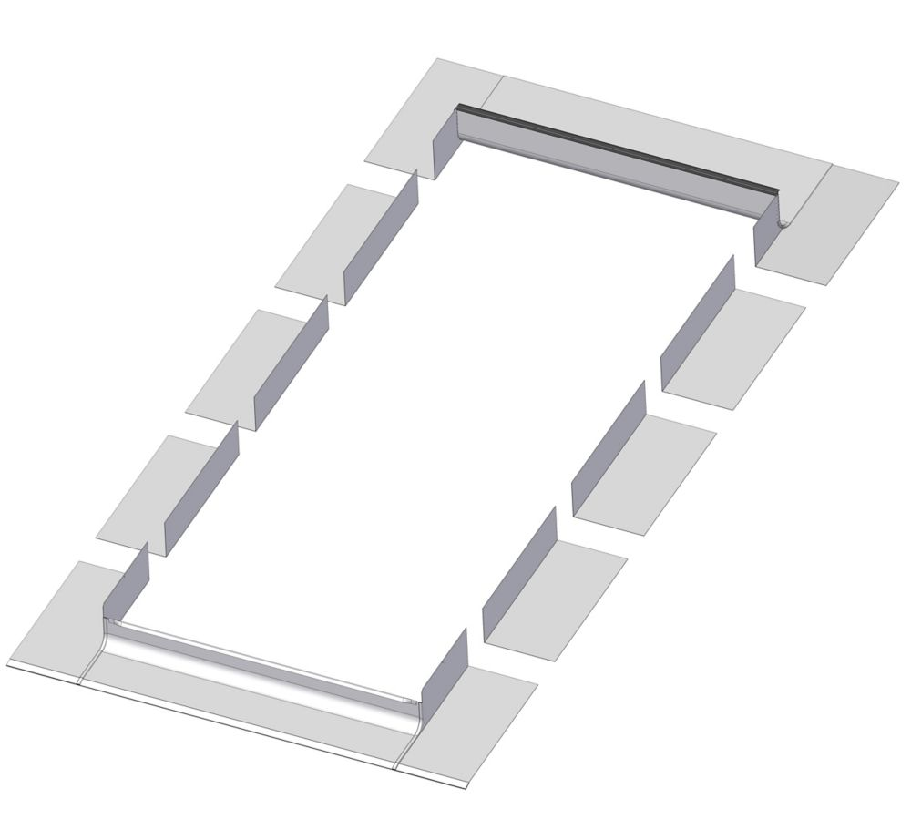 48-inch x 27-inch Fakro ELA Skylight Step Flashing