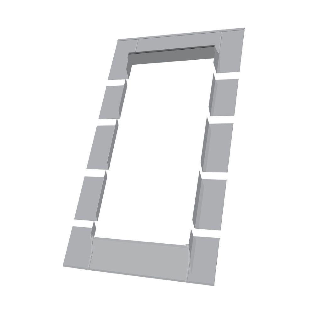 24-inch x 46-inch Fakro ELW Roof Access Window Step Flashing