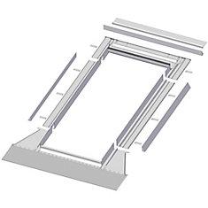 24-inch x 46-inch Fakro EH-A Skylight High Profile Step Flashing - ENERGY STAR®