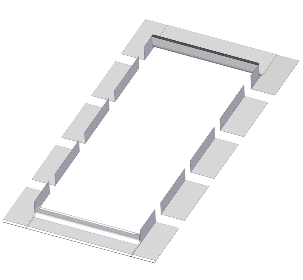 Solin à gradins de prestige EH-A 48x46 (pour puits de lumière FX seulement)