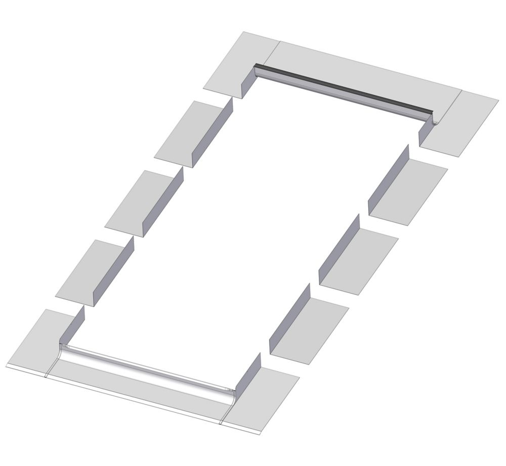 48-inch x 46-inch Fakro EL Skylight Step Flashing