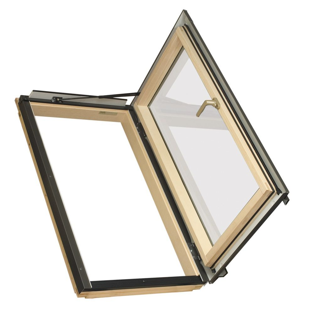 Fakro 24-inch x 46-inch Fakro FWU-R Right Opening Roof Access Window - ENERGY STAR®