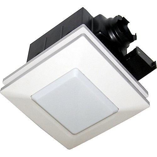 Ventilateur de ventilation super silencieux et kit d'éclairage :  90 PCM, 1.0 sones - ENERGY STAR