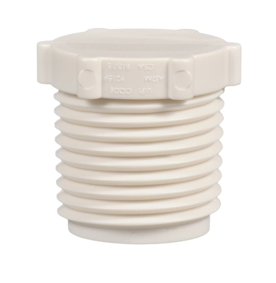 Jag Plumbing Products 1/2  Inch  Mpt Pex Plug (25 Pack)