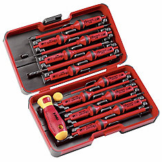 E-Smart Insulated Screwdrivers Set with 12 Interchangeable Blades and 2-Component Handle