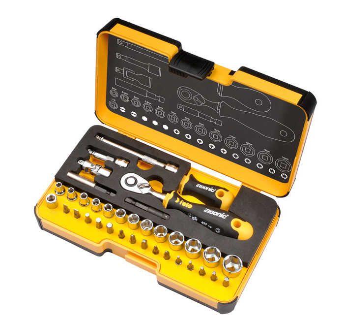R-GO ¼ Inch Ergonic Ratchet - Stubby - Multi-Tools Set