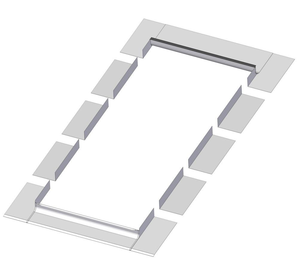 24-inch x 27-inch Fakro EL Skylight Step Flashing