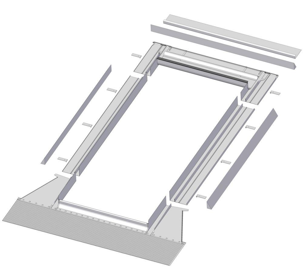 48-inch x 46-inch Fakro EH-A Skylight High Profile Step Flashing - ENERGY STAR®