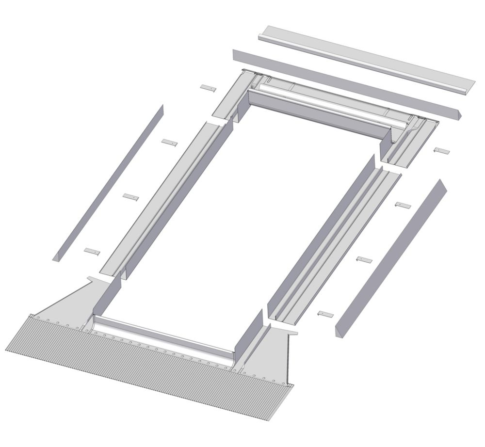 24-inch x 38-inch Fakro EH-A Skylight High Profile Step Flashing